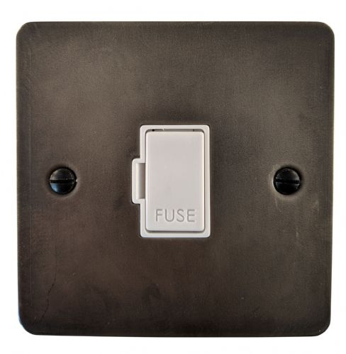 G&H FSL90W Flat Plate Slate 1 Gang Fused Spur 13A Unswitched